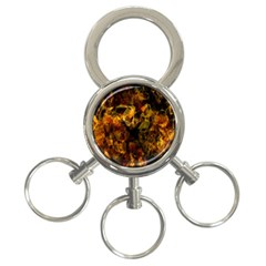 Autumn Colors In An Abstract Seamless Background 3 Ring Key Chains