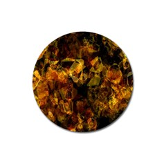 Autumn Colors In An Abstract Seamless Background Magnet 3  (round)