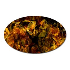 Autumn Colors In An Abstract Seamless Background Oval Magnet