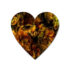 Autumn Colors In An Abstract Seamless Background Heart Magnet