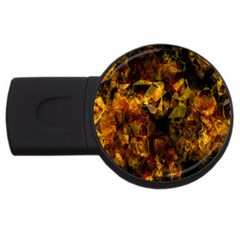 Autumn Colors In An Abstract Seamless Background Usb Flash Drive Round (2 Gb)