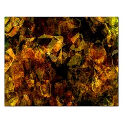 Autumn Colors In An Abstract Seamless Background Rectangular Jigsaw Puzzl