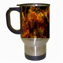 Autumn Colors In An Abstract Seamless Background Travel Mugs (white)
