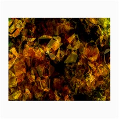 Autumn Colors In An Abstract Seamless Background Small Glasses Cloth