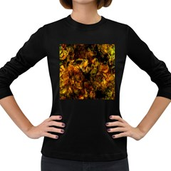 Autumn Colors In An Abstract Seamless Background Women s Long Sleeve Dark T-Shirts