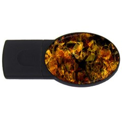Autumn Colors In An Abstract Seamless Background USB Flash Drive Oval (4 GB)