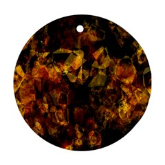 Autumn Colors In An Abstract Seamless Background Round Ornament (two Sides)