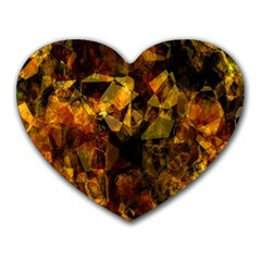 Autumn Colors In An Abstract Seamless Background Heart Mousepads