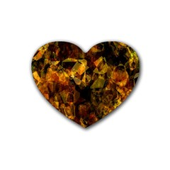 Autumn Colors In An Abstract Seamless Background Heart Coaster (4 pack)