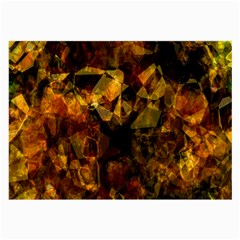 Autumn Colors In An Abstract Seamless Background Large Glasses Cloth (2 Side)