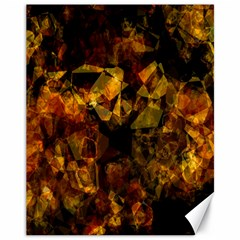Autumn Colors In An Abstract Seamless Background Canvas 11  x 14