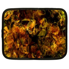 Autumn Colors In An Abstract Seamless Background Netbook Case (large)