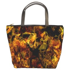 Autumn Colors In An Abstract Seamless Background Bucket Bags