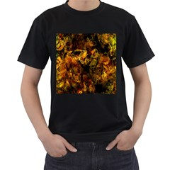 Autumn Colors In An Abstract Seamless Background Men s T-Shirt (Black)