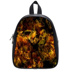 Autumn Colors In An Abstract Seamless Background School Bags (Small)