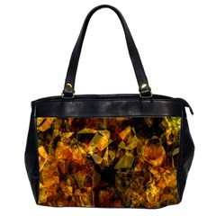 Autumn Colors In An Abstract Seamless Background Office Handbags (2 Sides)