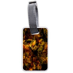 Autumn Colors In An Abstract Seamless Background Luggage Tags (one Side)