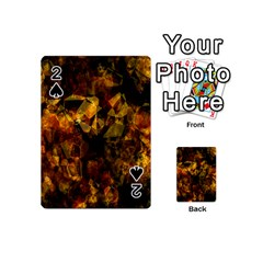 Autumn Colors In An Abstract Seamless Background Playing Cards 54 (mini)