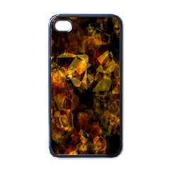 Autumn Colors In An Abstract Seamless Background Apple Iphone 4 Case (black)