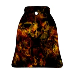 Autumn Colors In An Abstract Seamless Background Bell Ornament (Two Sides)