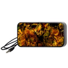 Autumn Colors In An Abstract Seamless Background Portable Speaker (black)