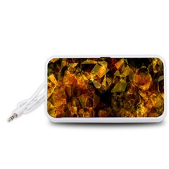 Autumn Colors In An Abstract Seamless Background Portable Speaker (White)