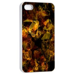 Autumn Colors In An Abstract Seamless Background Apple iPhone 4/4s Seamless Case (White)