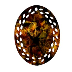 Autumn Colors In An Abstract Seamless Background Oval Filigree Ornament (Two Sides)