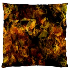 Autumn Colors In An Abstract Seamless Background Large Cushion Case (Two Sides)
