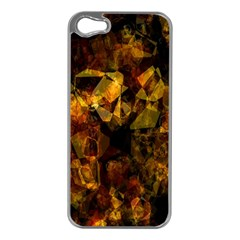 Autumn Colors In An Abstract Seamless Background Apple iPhone 5 Case (Silver)