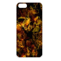 Autumn Colors In An Abstract Seamless Background Apple Iphone 5 Seamless Case (white)