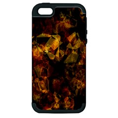 Autumn Colors In An Abstract Seamless Background Apple Iphone 5 Hardshell Case (pc+silicone)