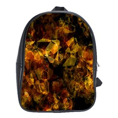 Autumn Colors In An Abstract Seamless Background School Bags (XL)