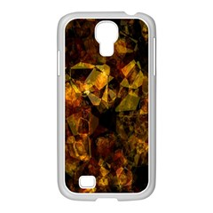 Autumn Colors In An Abstract Seamless Background Samsung GALAXY S4 I9500/ I9505 Case (White)