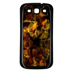 Autumn Colors In An Abstract Seamless Background Samsung Galaxy S3 Back Case (black)