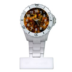 Autumn Colors In An Abstract Seamless Background Plastic Nurses Watch