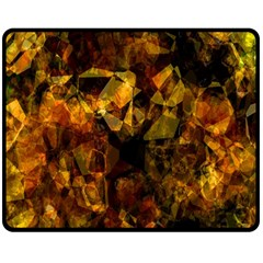 Autumn Colors In An Abstract Seamless Background Double Sided Fleece Blanket (Medium)