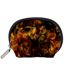 Autumn Colors In An Abstract Seamless Background Accessory Pouches (Small)