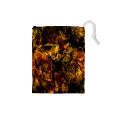 Autumn Colors In An Abstract Seamless Background Drawstring Pouches (Small)