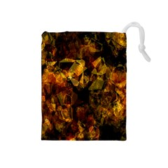 Autumn Colors In An Abstract Seamless Background Drawstring Pouches (medium)
