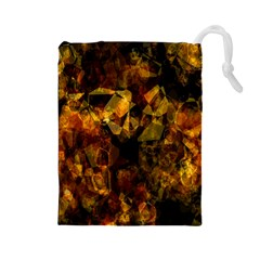Autumn Colors In An Abstract Seamless Background Drawstring Pouches (large)