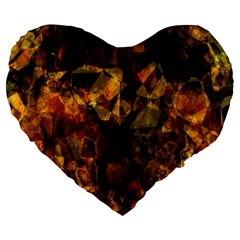 Autumn Colors In An Abstract Seamless Background Large 19  Premium Flano Heart Shape Cushions