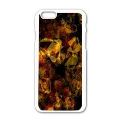 Autumn Colors In An Abstract Seamless Background Apple Iphone 6/6s White Enamel Case