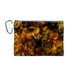 Autumn Colors In An Abstract Seamless Background Canvas Cosmetic Bag (M)