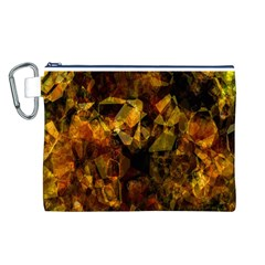 Autumn Colors In An Abstract Seamless Background Canvas Cosmetic Bag (l)
