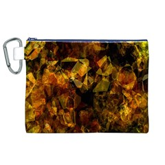 Autumn Colors In An Abstract Seamless Background Canvas Cosmetic Bag (xl)