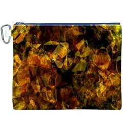 Autumn Colors In An Abstract Seamless Background Canvas Cosmetic Bag (xxxl)