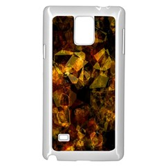 Autumn Colors In An Abstract Seamless Background Samsung Galaxy Note 4 Case (white)