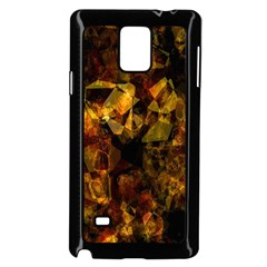 Autumn Colors In An Abstract Seamless Background Samsung Galaxy Note 4 Case (black)
