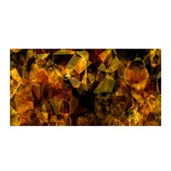 Autumn Colors In An Abstract Seamless Background Satin Wrap